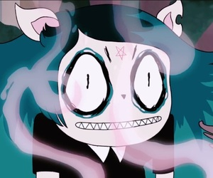 black, blue, and cartoon image