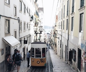 city, travel, and lisbon image