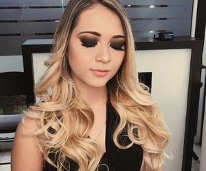 black, blonde, and eyeshadow image