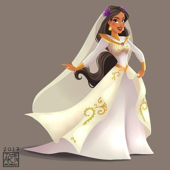 Disney Princess Jasmine Wedding Dress Art On We Heart It
