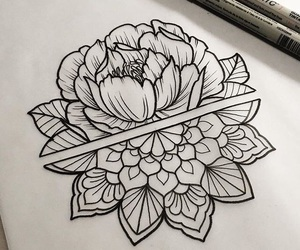 flower, mandala, and tattoo image