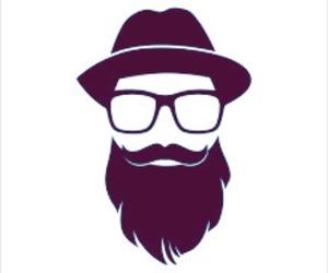beard, cap, and Logo image