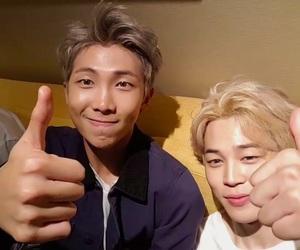 bts, kim namjoon, and jimin image