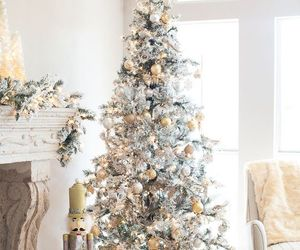 christmas, tree, and silver image