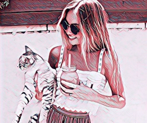 cat, pet, and drink image