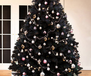 black, christmas, and tree image