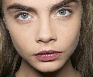 cara delevingne, eyebrows, and model image