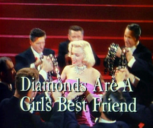 Marilyn Monroe, diamonds, and vintage image