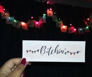 alphabet, bookmark, and christmas lights image