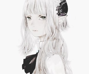 anime, hair, and pale image