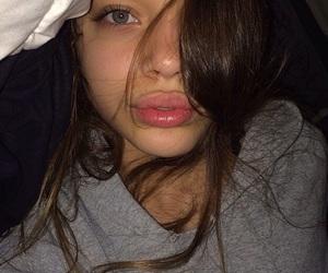 girl, lips, and eyes image