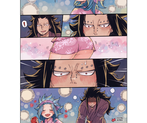 fairy tail, gajeel redfox, and levy mcgarden image
