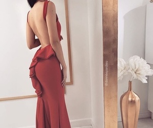 dress, evening gown, and long dress image