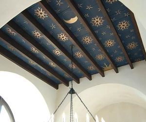 ceiling, interior, and moon image