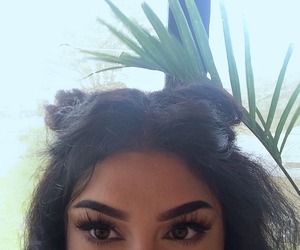 hair, girl, and eyebrows image