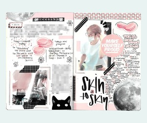 journal, kpop, and notebook image