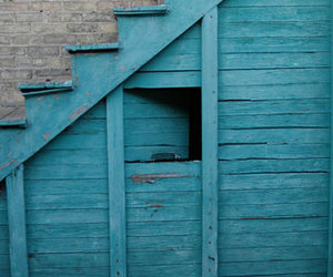 blue, stairs, and teal image