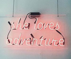 adventure, quotes, and pink image
