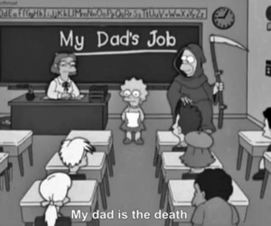 death, simpsons, and homer image
