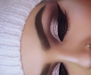 beauty, eyes, and glitter image