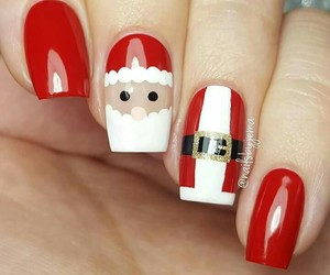 nails, christmas, and santa claus image