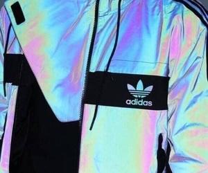 adidas, holographic, and jacket image