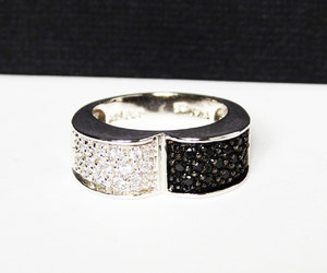 black and white, cubic zirconia, and thejewelseeker image