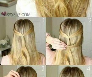 diy, hairstyle, and fashionhair image