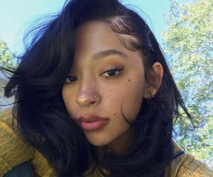 beauty, black women, and freckles image
