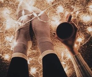 light, coffee, and socks image