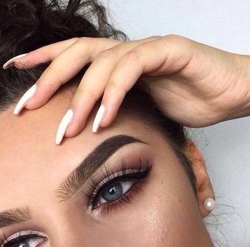 blue eyes, eyebrows, and eyelashes image