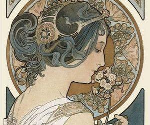 art, alphonse mucha, and Art Nouveau image