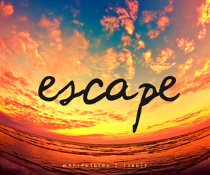 escape, quote, and sky image