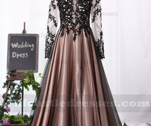 long prom dresses 2018 and lace prom dresses 2018 image