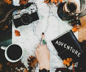 adventure, autumn, and camera image