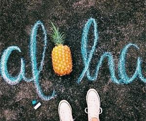 Aloha, summer, and pineapple image