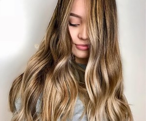 girl, hair, and babyligths image