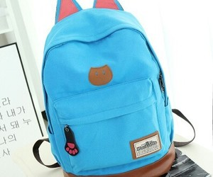 backpack, blue, and funny image
