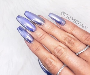 nails and holographic image