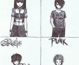 emo, goth, and punk image