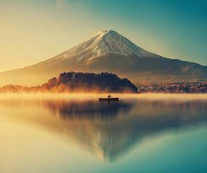landscape, mountains, and japan image