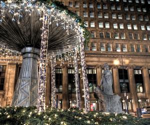 lights, night, and winter image