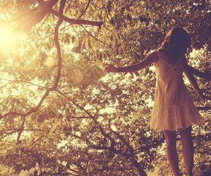girl, tree, and pretty image