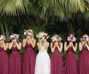 bridesmaids, dress, and gown image