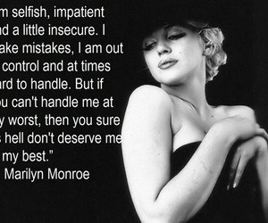 life, Marilyn Monroe, and quotes image