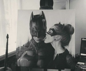 batman, art, and catwoman image