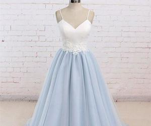 dress and prom dress blue image