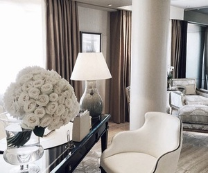 luxury, white, and flowers image