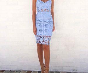 blue, dress, and fashiion image