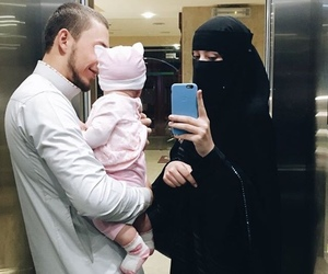 islam, muslim, and niqab image